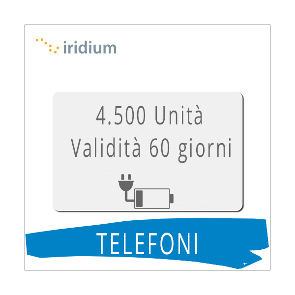 Ricarica telefoni Iridium 4.500 unità