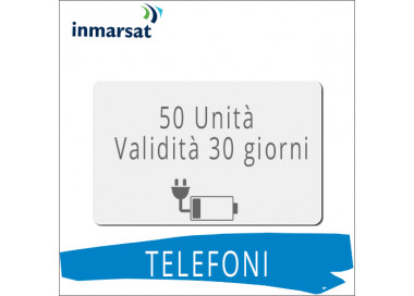 Ricarica telefoni Inmarsat 50 unità