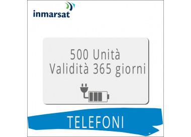 Ricarica telefoni Inmarsat 500 unità