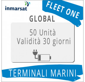 Ricarica Fleet One Global Inmarsat 50 unità