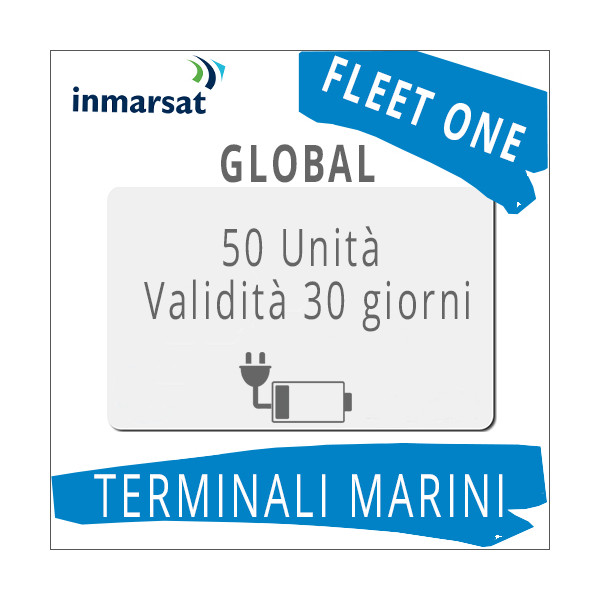 Ricarica Fleet One Global Inmarsat 50 unità