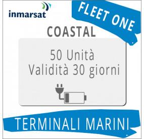 Ricarica Fleet One Coastal Inmarsat 50 unità