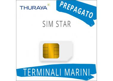 SIM Card Thuraya Star con 60 Unità di Traffico - Prepagato